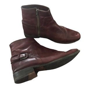 Frye Eggplant Shirley Short Boots